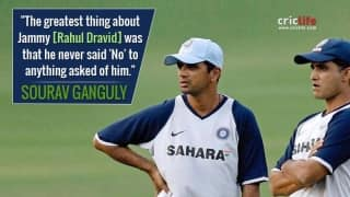 "When Sourav Ganguly defined Rahul Dravid as ""one of the most selfless characters"""