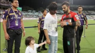 Meet of the titans: When Virat Kohli met Shah Rukh Khan and little AbRam after KKR-RCB clash