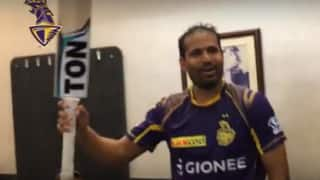 VIDEO: How Yusuf Pathan, Chris Lynn and others celebrated KKR's empathic win against RCB