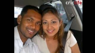 Denesh Ramdin with wife Jenelle Mohess