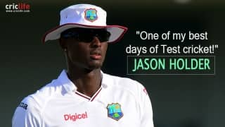 "One of Jason Holder's ""best days in Test cricket"""
