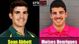 Sean Abbott and Moises Henriques
