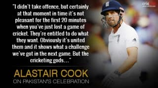 Alastair Cook annoyed with Pakistan's 'push-ups' celebration after Lord's win