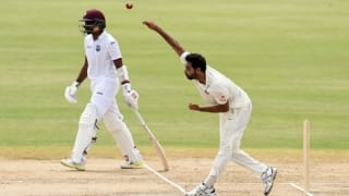 Watch Bhuvneshwar Kumar decimate West Indies with his controlled swing bowling