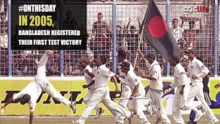When Bangladesh won their first Test