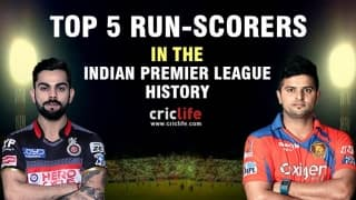 IPL 2016: Top 5 run-scorers in the history of Indian Premier League