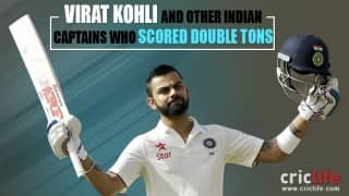 Infographic: Virat Kohli and other 4 double centurion Indian captains