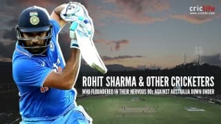 Rohit Sharma and other cricketers who floundered in nervous 90s against Australia Down Under