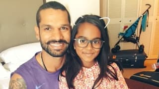 It's father-daughter time for Shikhar Dhawan