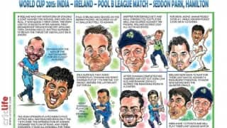 ICC Cricket World Cup 2015: India vs Ireland, Pool B match in caricatures