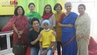 Sachin Tendulkar spends a day at St Jude ChildCare India