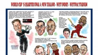 ICC Cricket World Cup 2015: New Zealand vs West Indies in caricatures
