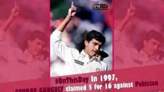 When Sourav Ganguly's fifer won India the Sahara Cup in 1997