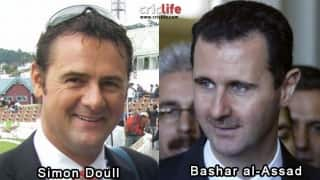 Simon Doull and Bashar al-Assad