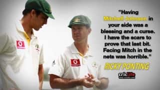 Ricky Ponting recalls facing Mitchell Johnson in the nets; calls it
