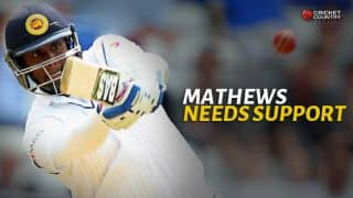Angelo Mathews continues to fight the lone battle for Sri Lanka
