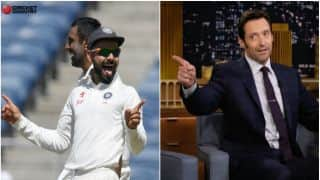 Hollywood star Hugh Jackman addresses Team India players as 'superheroes'