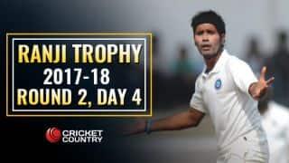 Live Cricket Score, Ranji Trophy 2017-18, Round 2, Day 4