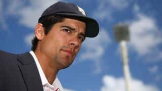 Alastair Cook celebrates birth of first child with century
