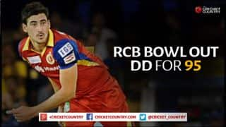 Royal Challengers Bangalore bowl Delhi Daredevils out for 95 in IPL 2015