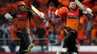 Bairstow, Warner twin tons highlight Hyderabad's mauling of Bangalore