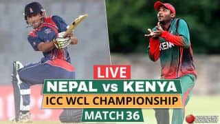 Live Cricket Score, Nepal vs Kenya at Kirtipur, Match 36, ICC WCL Championship: NEP win by 7 wickets