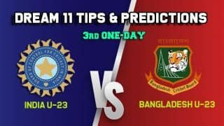 IN-U23 vs BN-U23 Dream11 Team India U-23 vs Bangladesh U-23, 3rd One-Day– Cricket Prediction Tips For Today's match at Lucknow