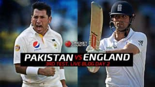 ENG 222/4 │Live Cricket Score Pakistan vs England 2015, 3rd Test at Sharjah, Day 2: Visitors consolidate after James Taylor's fifty