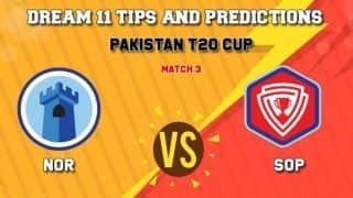 Dream11 Team Northern vs Southern Punjab  Pakistan T20 Cup National T20 Cup, 2019 – Cricket Prediction Tips For Today's T20 Match 3 NOR vs SOP at Faisalabad