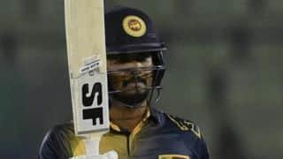 Dinesh Chandimal's unbeaten 102 propels Sri Lanka to 303-7 against Ireland in 1st ODI at Dublin