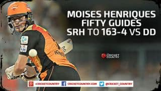 SRH finish on 163/4 against DD in Match 45 IPL 2015