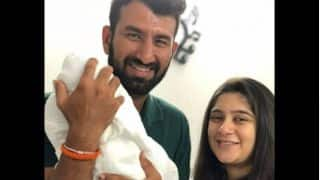 Photo: Cheteshwar and Puja Pujara blessed with baby girl