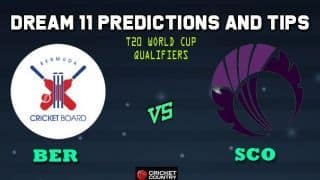 Dream11 Team Bermuda vs Scotland ICC Men's T20 World Cup Qualifiers – Cricket Prediction Tips For Today's T20 Match 30 Group A BER vs SCO at Dubai