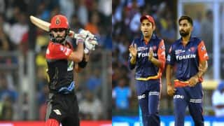 IPL 2018, RCB vs DD, Full Cricket Score and Updates, Match 19 at M Chinnaswamy Stadium: Chahal cleans up Roy
