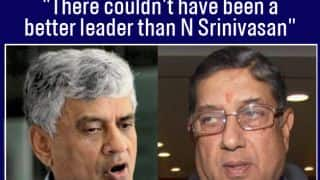 Sanjay Patel congratulates N Srinivasan on being appointed ICC Chairman