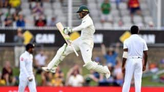 Sri Lanka need 499, Australia 10 wickets after Usman Khawaja 101*