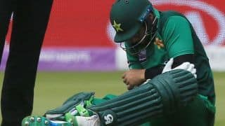 Imam-Ul-Haq taken to hospital after being hit on elbow
