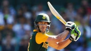 Faf Du Plessis dejected after South Africa's defeat to Australia in Tri-Nation Series 2016