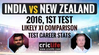 India vs New Zealand 2016, 1st Test at Kanpur: Likely XI comparison