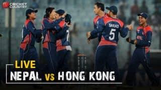 Live cricket scores, Nepal vs Hong Kong, ICC World Cricket League Championship Match 48