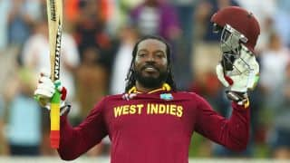 Chris Gayle's record double century helps West Indies register 73-run win
