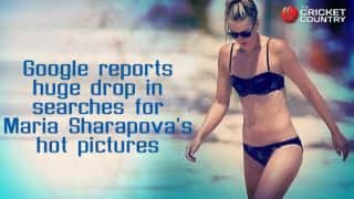 Google reports huge drop in 'hot Sharapova' searches