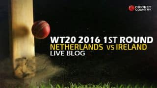 IRE 47/7 in 6 overs, Live Cricket Score, Ireland vs Netherlands, ICC World T20 2016, IRE vs NED, Match 11 at Dharamsala: Netherlands win by 12 runs