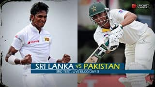 Live Cricket Score Sri Lanka vs Pakistan 2015, 3rd Test at Pallekele, Day 3 SL 228/5: Sri Lanka lead by 291 runs