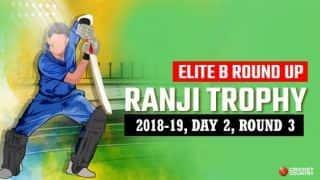Ranji Trophy 2018-19, Elite B, Round 3, Day 2: Madhya Pradesh steady at 184/2 after Avesh Khan, Kuldeep Sen share nine wickets against Punjab
