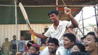 Pranav Dhanawade felicitated by Mumbai Cricket Association President Sharad Pawar