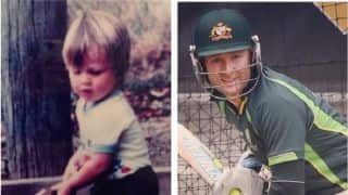 PHOTO: Michael Clarke thanks everyone with rare childhood picture