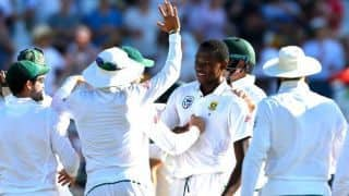 Port Elizabeth test: sri lanka all out at 154 in first inning against South africa