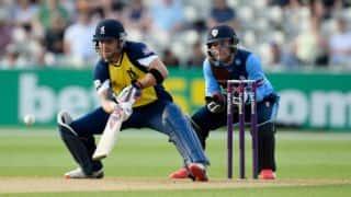 Brendon McCullum blasts 158 off 64 balls for Warwickshire against Derbyshire in Natwest T20