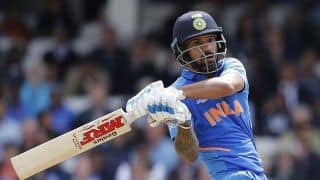 Cricket World Cup 2019: Thumb injury prevents Shikhar Dhawan from taking the field in Australia's run-chase